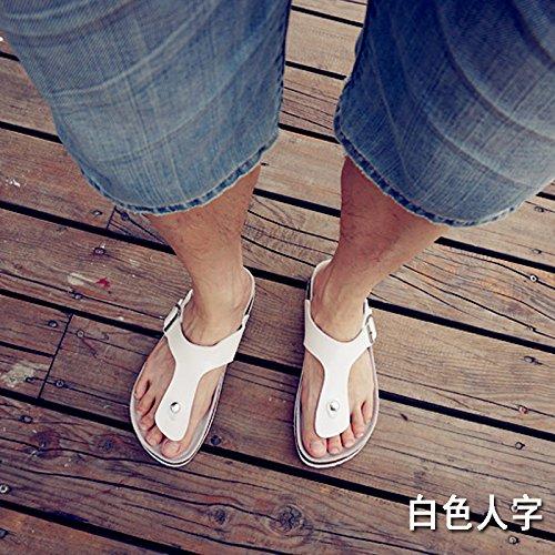 fankou Les Hommes sont au Frais en Été et Un Salon étudiant Pantoufles Chaussures de Plage Couples Femmes, Femme, 38, Blanc