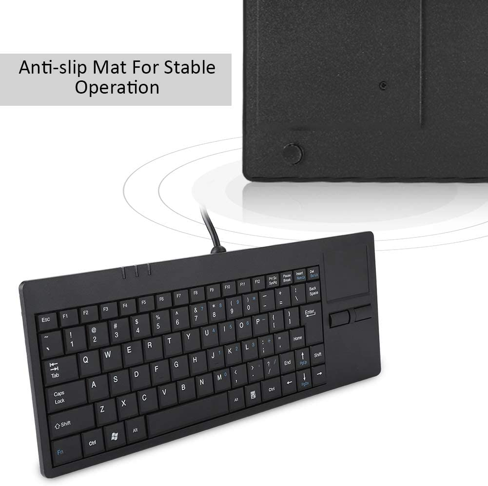 LYX MC-818 82 Keys Touch-pad Ultra-Thin Wired Computer Keyboard Durable and Wearable