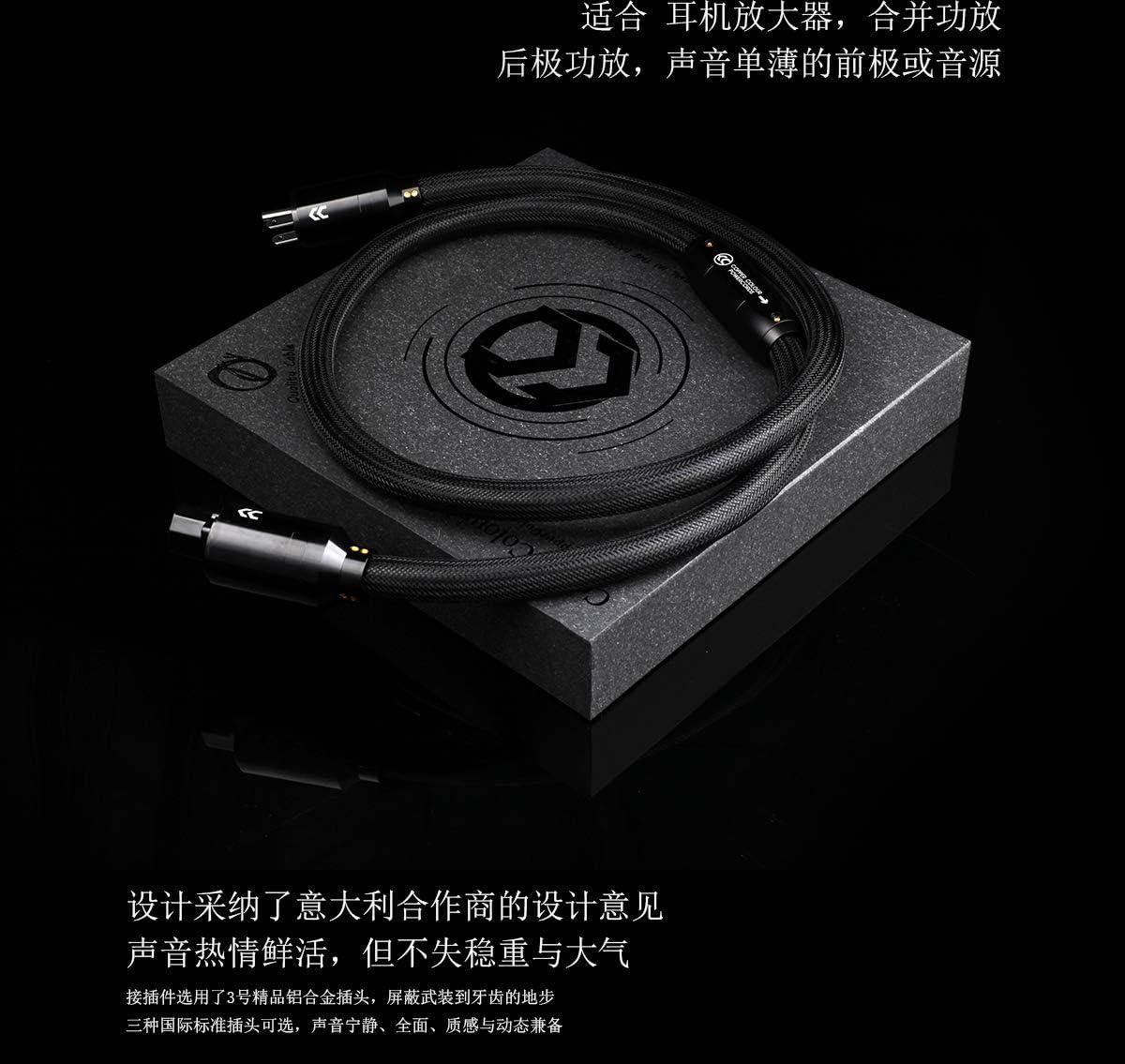 6.65 ft CopperColour CC Pantheon Teflon Audiophile Power Cord US Plug OFC 9mm2 OD=20mm 2m