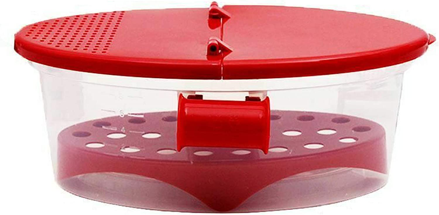 Microwave Pasta Maker, Food Grade Heat Resistant Microwave Pasta Cooker with Strainer, Perfect Pasta Every Time