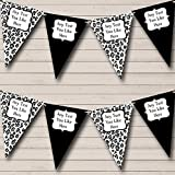 Black White Animal Print Personalized Birthday Party Bunting Banner Garland