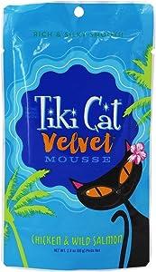 Tiki Cat - Velvet Mousse Cat Food Chicken & Wild Salmon - 2.8 oz.