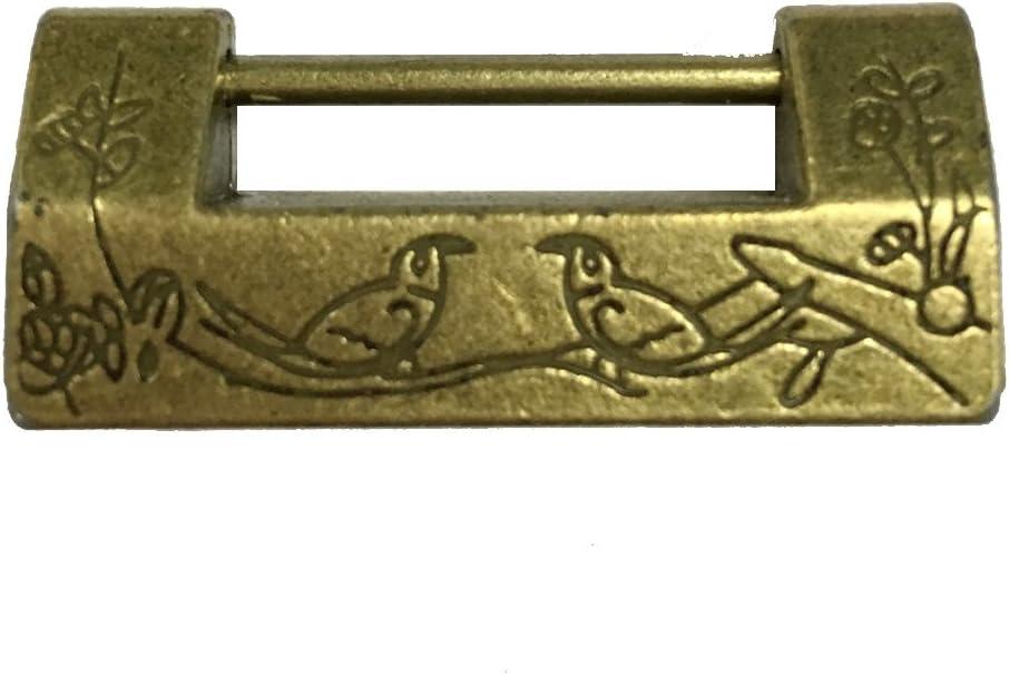 Sammlerst/ü Chinesischen Alten Stil Vorh/ängeschloss Mit Schl/üssel Passw/örter Schl/össer Ornamente Handwerk