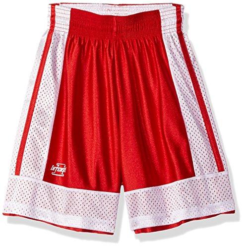 2014 Basketball Shorts - Intensity Youth Two Way Basketball Shorts, Scarlet/White, Medium