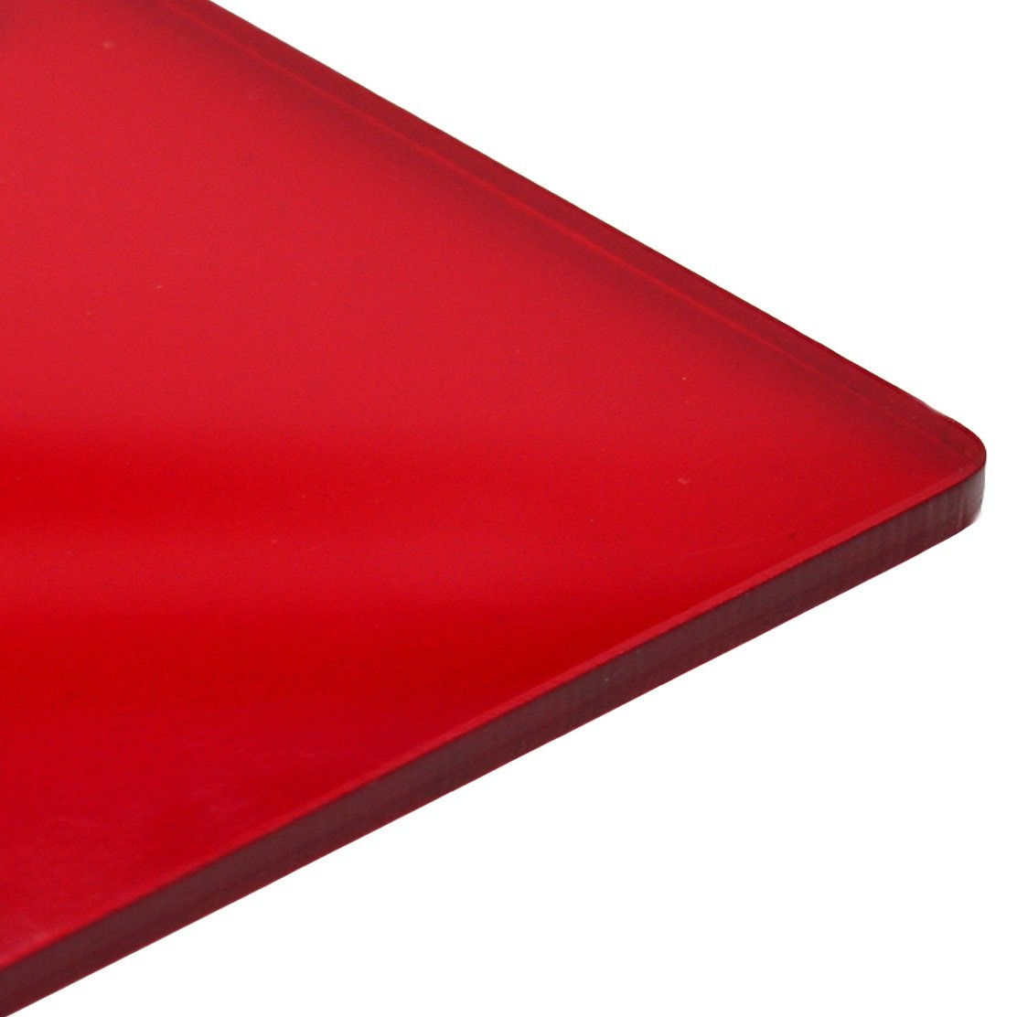 3mm Red Gloss Transparent 4401 Perspex Cast Acrylic Sheet A6 148mm x 105mm