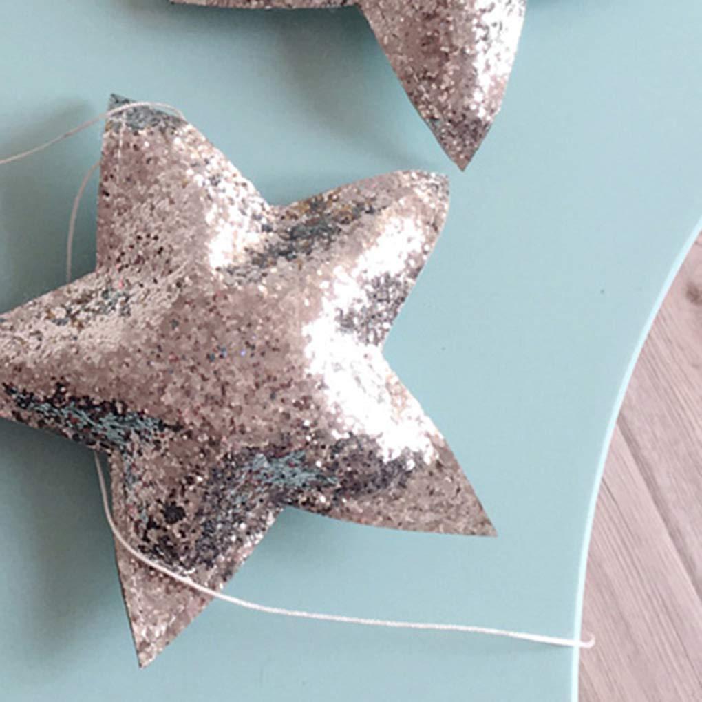 Sala de 5pcs set del beb/é del cuarto de ni/ños de estrellas para ni/ños guirnaldas de Navidad decoraciones de pared de la sala apoyos de la fotograf/ía Los mejores regalos