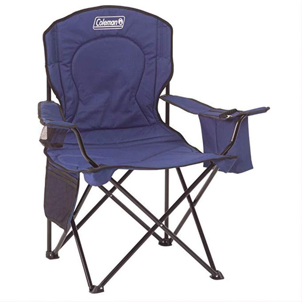 AXIANQI Tragbarer Camping Quad Chair Mit 4-Dosen-Kühler A (Farbe : Blau)