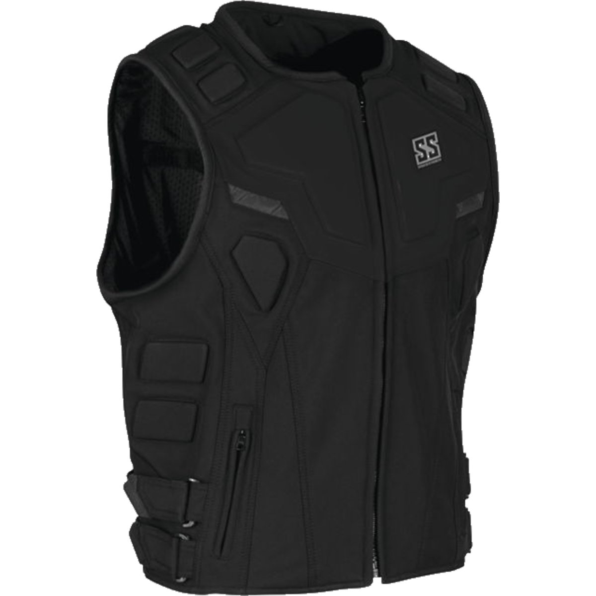 Speed and Strength Critical Mass Armored Men's MX Motorcycle Vest - Black Small