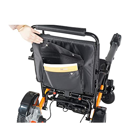 2019 Lightweight Fold Foldable Portable Electric Wheelchair Deluxe Powerful Dual Motor Compact Mobility...