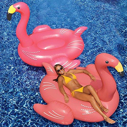 Swimline Giant Flamingo Swimming Pool Float, 2-Pack