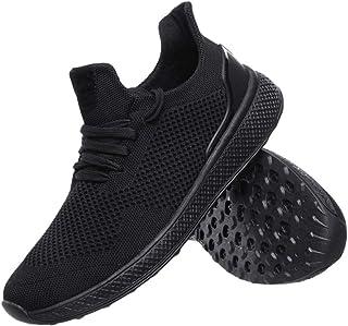 YAYADI Homme Chaussures De Sport Respirant Adultes Noir Marche Jogging Athlétisme Masculin Fond Creux Chaussures Sneakers Quatre Saisons