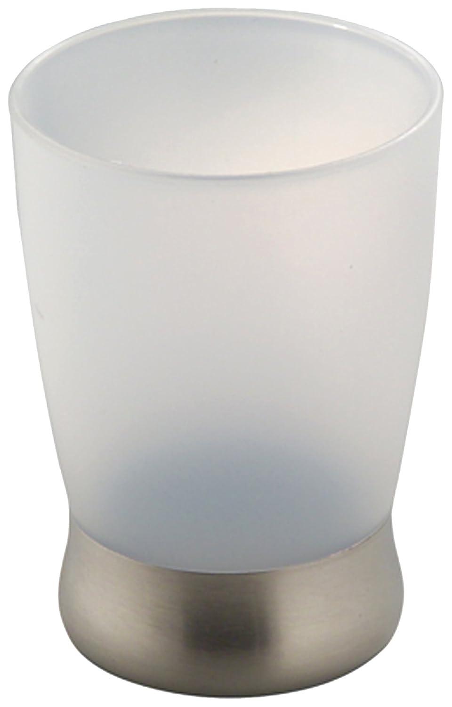 InterDesign Bath Countertop Accessory Set, Soap Dispenser Pump, Toothbrush Holder, Tumbler, Soap Dish - 4 Pieces, Clear/Brushed 02557C4