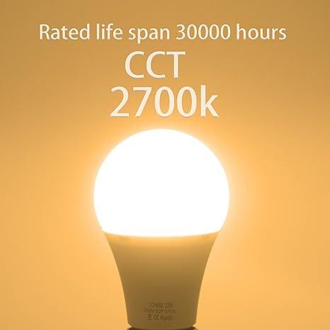 23 W (200 W) Bombilla LED E27, LOHAS No-Regulable rosca Edison bombillas de luz, 2500 lúmenes, Blanco Calído 2700K, 240 ° ángulo de haz, Bombilla de bajo ...