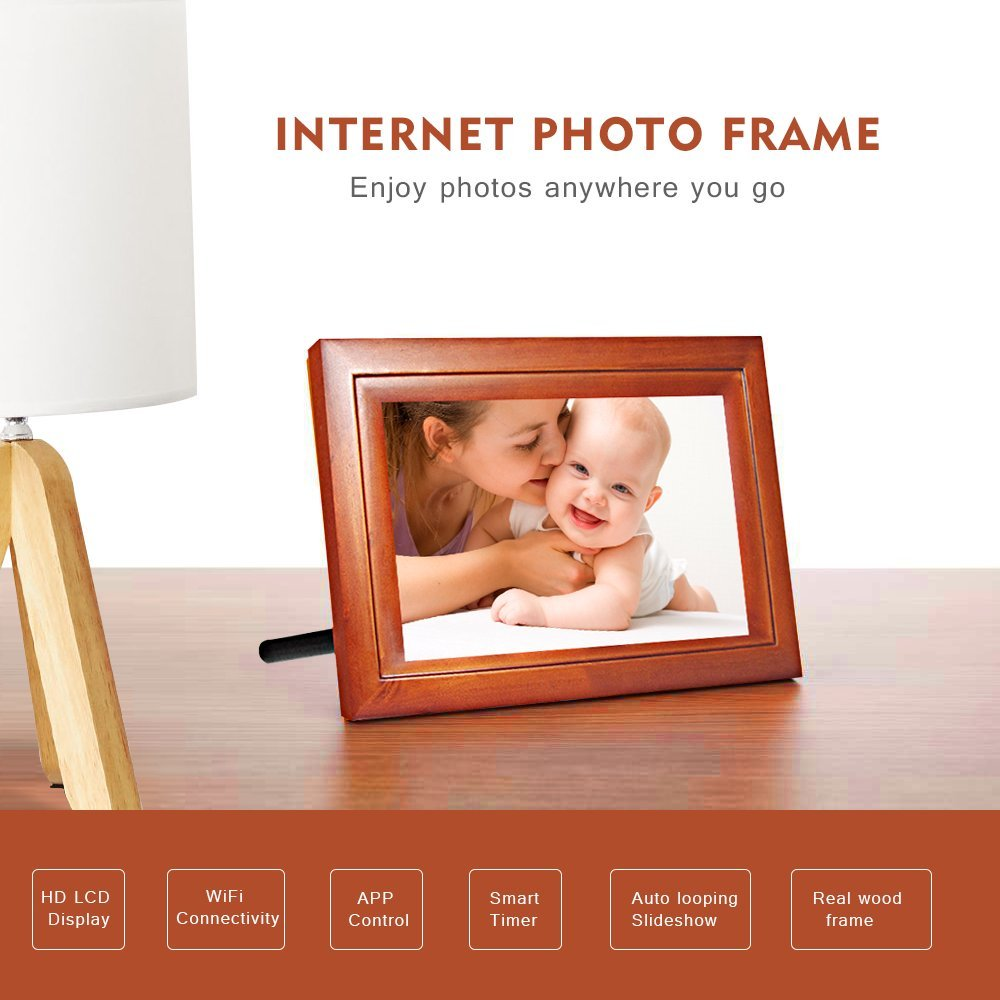 Amazon.com : EZfun Internet Photo Frame IPF07/7 inch Smart photo ...