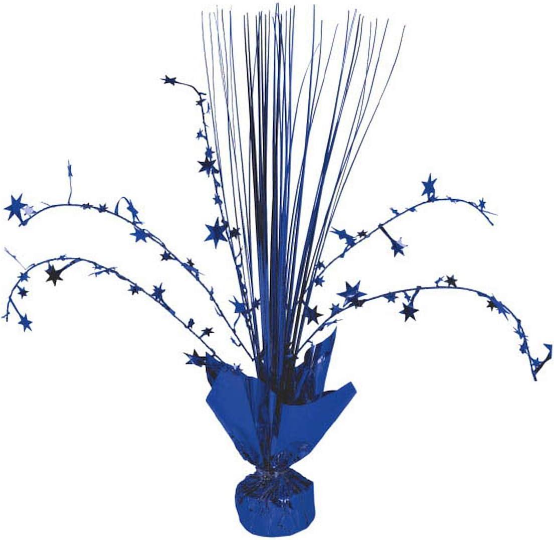 amscan Foil Spray Centerpiece   Bright Royal Blue   Party Decor   12 Ct