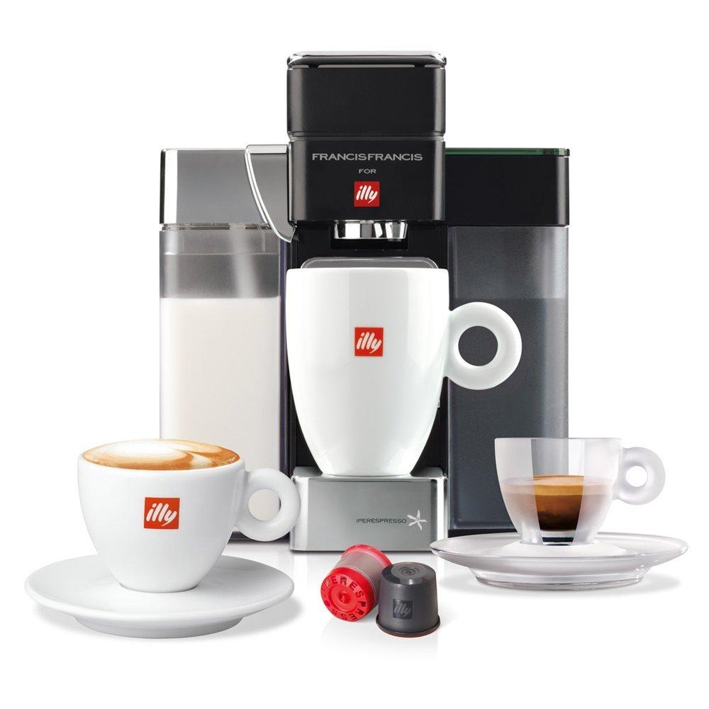 FrancisFrancis. Y5 Milk Espresso + Coffee (S + C) ipere mediaespresso, Negro