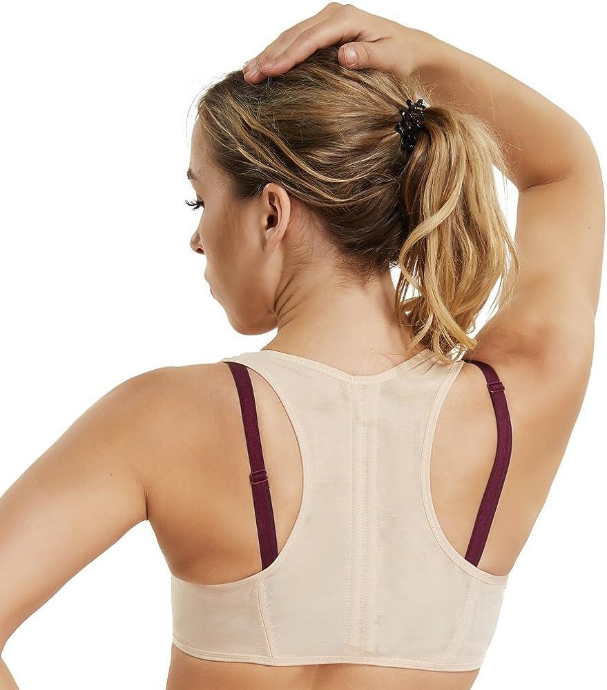 Back Support Bra for Women Chest Brace Up Shapewear Tops Racerback Vest Humpback Posture Corrector