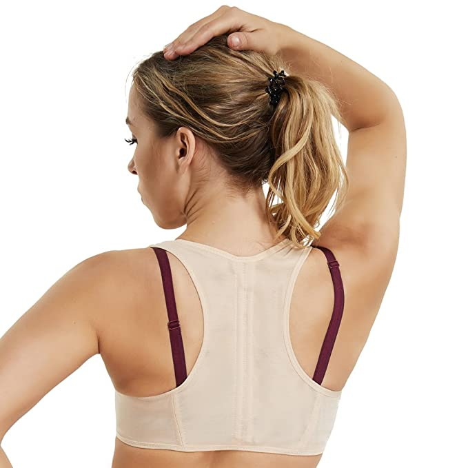 1066f8707503b Shapewear for Women Compression Tops Chest Up Racerback Support Humpback  Posture Corrector (Beige