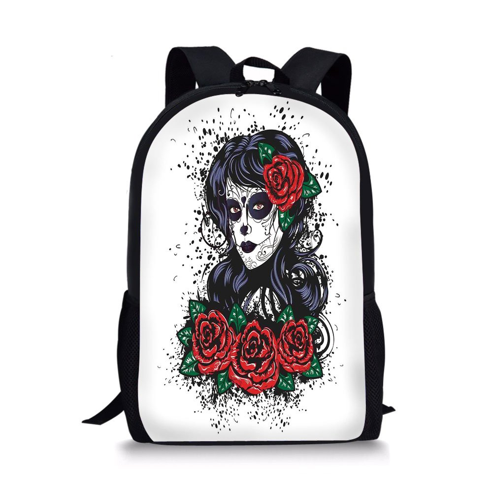 f77c304fb9f2 Amazon.com  iPrint School Bags Skull