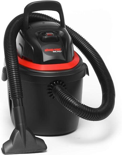 Aspirador/aspiradora en seco y húmedo Micro 10 Handheld ~ Ligero, Aspiradora portátil, para Flexible Potencia en el hogar, el Garaje o en el Coche ~ con Variado Accesorios, 10 L de depósito: