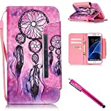 Galaxy S7 edge Case, Firefish Stand Flip Folio Wallet Cover Shock Resistance Protective Shell with Cards Slots Magnetic Closure for Samsung Galaxy S7 edge-Pinknet