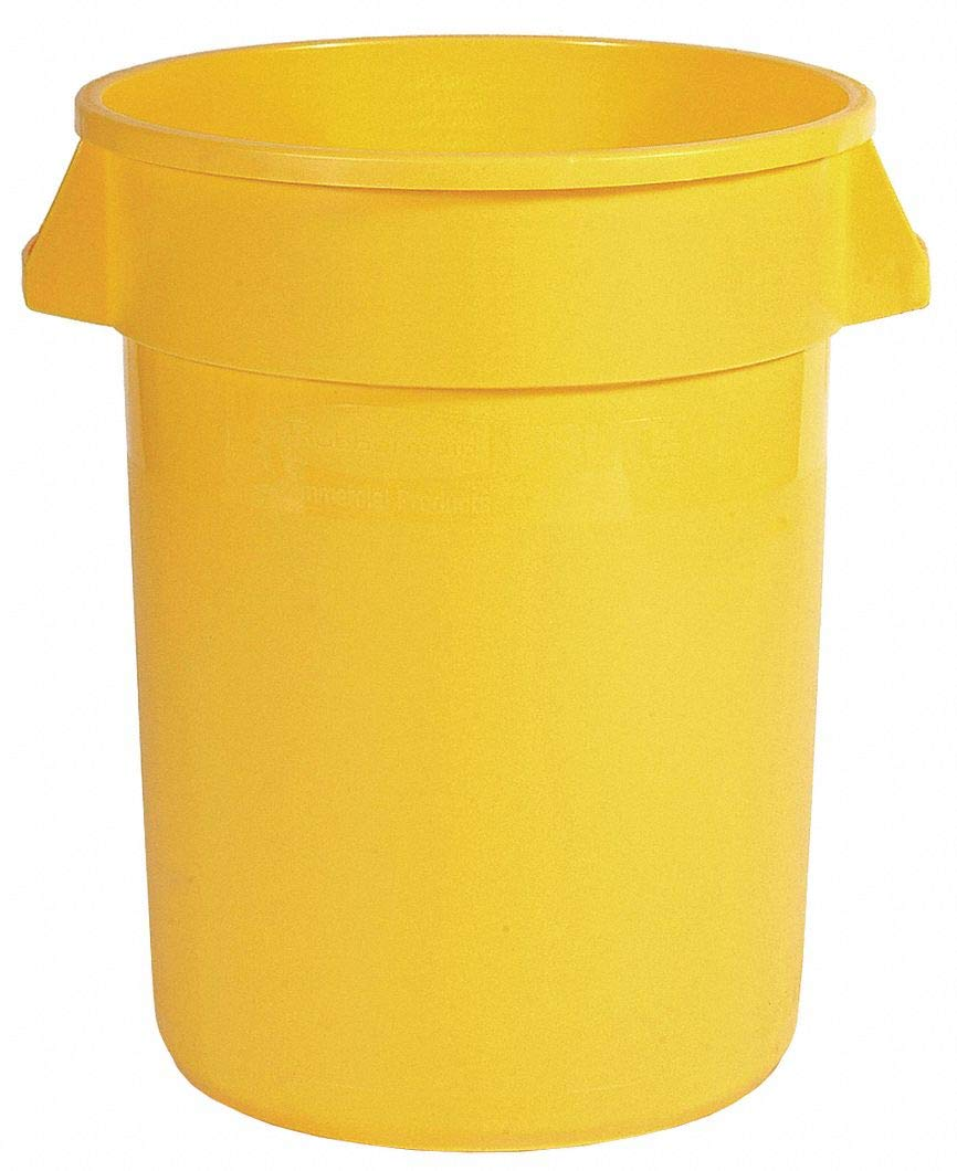 Food-Grade Waste Container, 55 gal, YLW