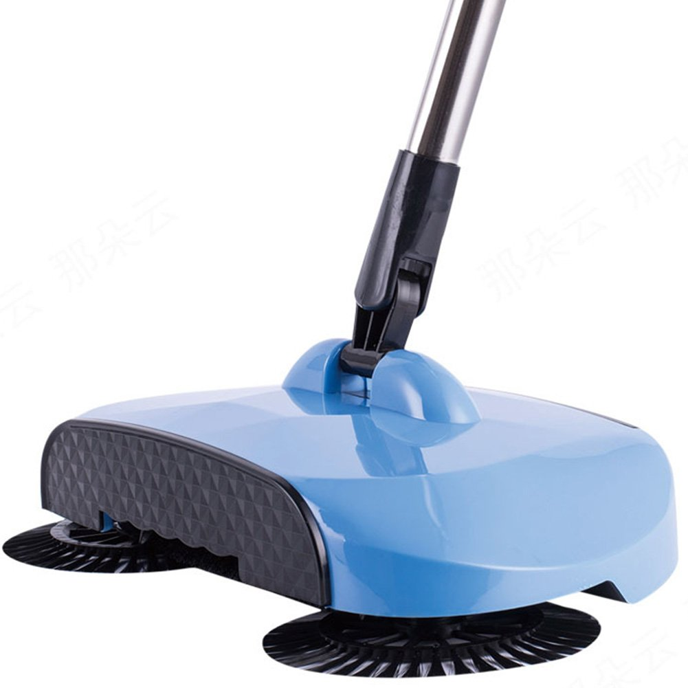 Manual Sweeper Vacuum Automatic Hand Push Home Floor Carpet Sweeper Household Surface Cleaning Mop with Dustpan and Trash Bin