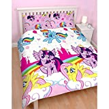 Girls My Little Pony Equestria Reversible Double Rotary Duvet Quilt Bedding Set