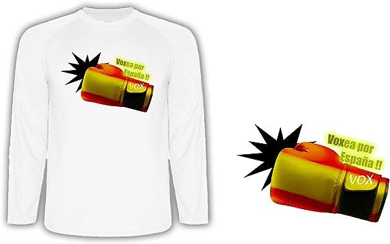 Camiseta Manga Larga VOXEA por ESPAÑA Tshirt: Amazon.es: Ropa y ...