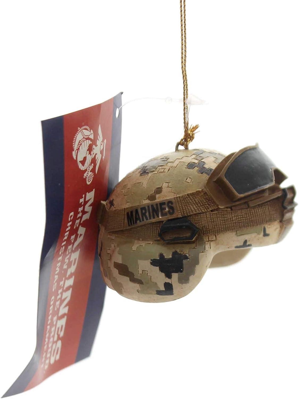 Kurt Adler U.S. Marine Corps Combat Helmet Christmas Ornament
