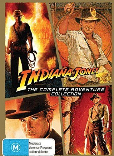 Indiana Jones Complete Collection (Raiders of the Lost Ark + Temple of Doom + Last Crusade + Kindom of the Crystal Skull) DVD (Indiana Jones Crystal Temple)