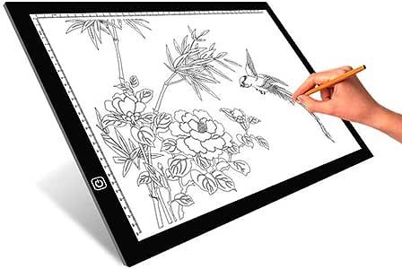 Copy board Caja de luz de Dibujo A3 para fotocopiadora, Caja de luz LED superfina, luz con Brillo Ajustable, Dibujo de Arquitectura, caligrafía, Manualidades para Artistas, Dibujo de niños: Amazon.es: Hogar