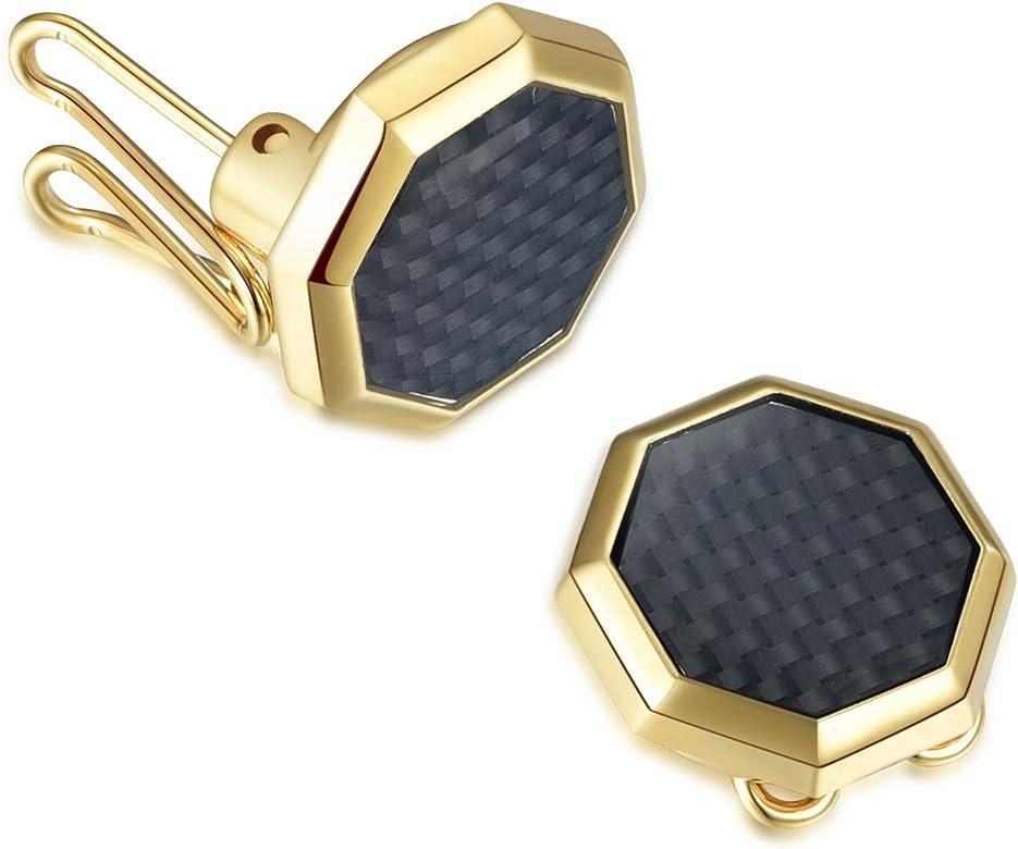 Cubre Botones Hexágono de oro – La Alternativa a Los Gemelos para Camisas Ordinarias: Amazon.es: Joyería