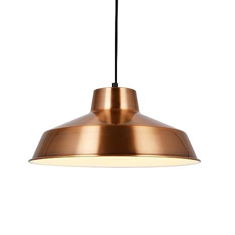 [Lux.pro] Lámpara estilo vintage colgante - E27 - cobre / blanco - Lámpara De Techo moderna