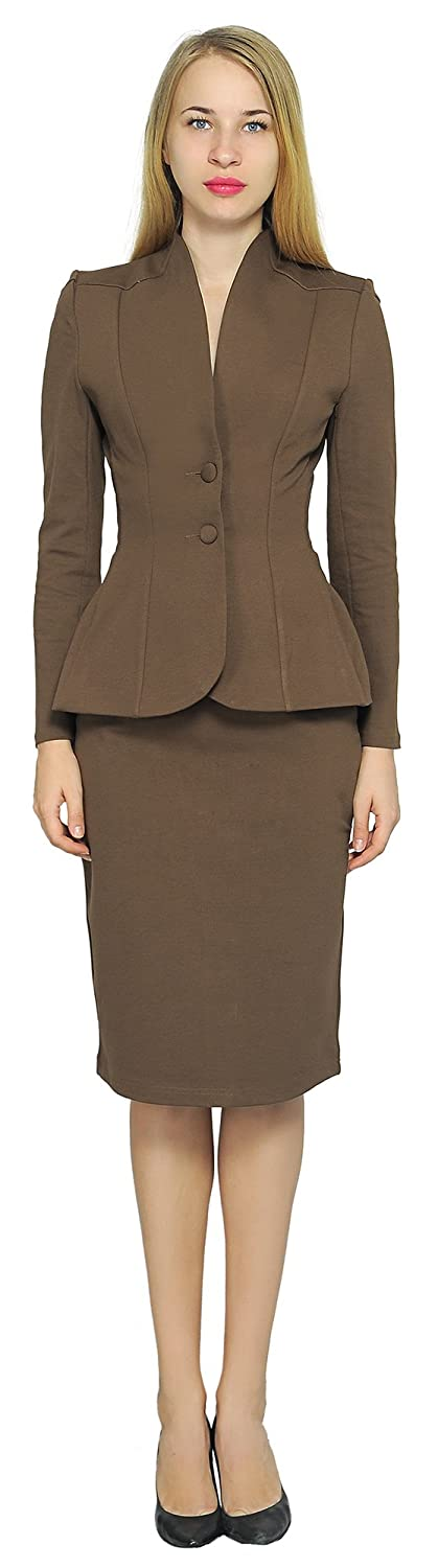 afcee706bf Women's 1940s Victory Suits and Utility Suits Marycrafts Womens Formal  Office Business Work Jacket Skirt Suit