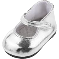 1 Paire Chaussures pour Poupée Fille Américaine 18 inch - Argenté