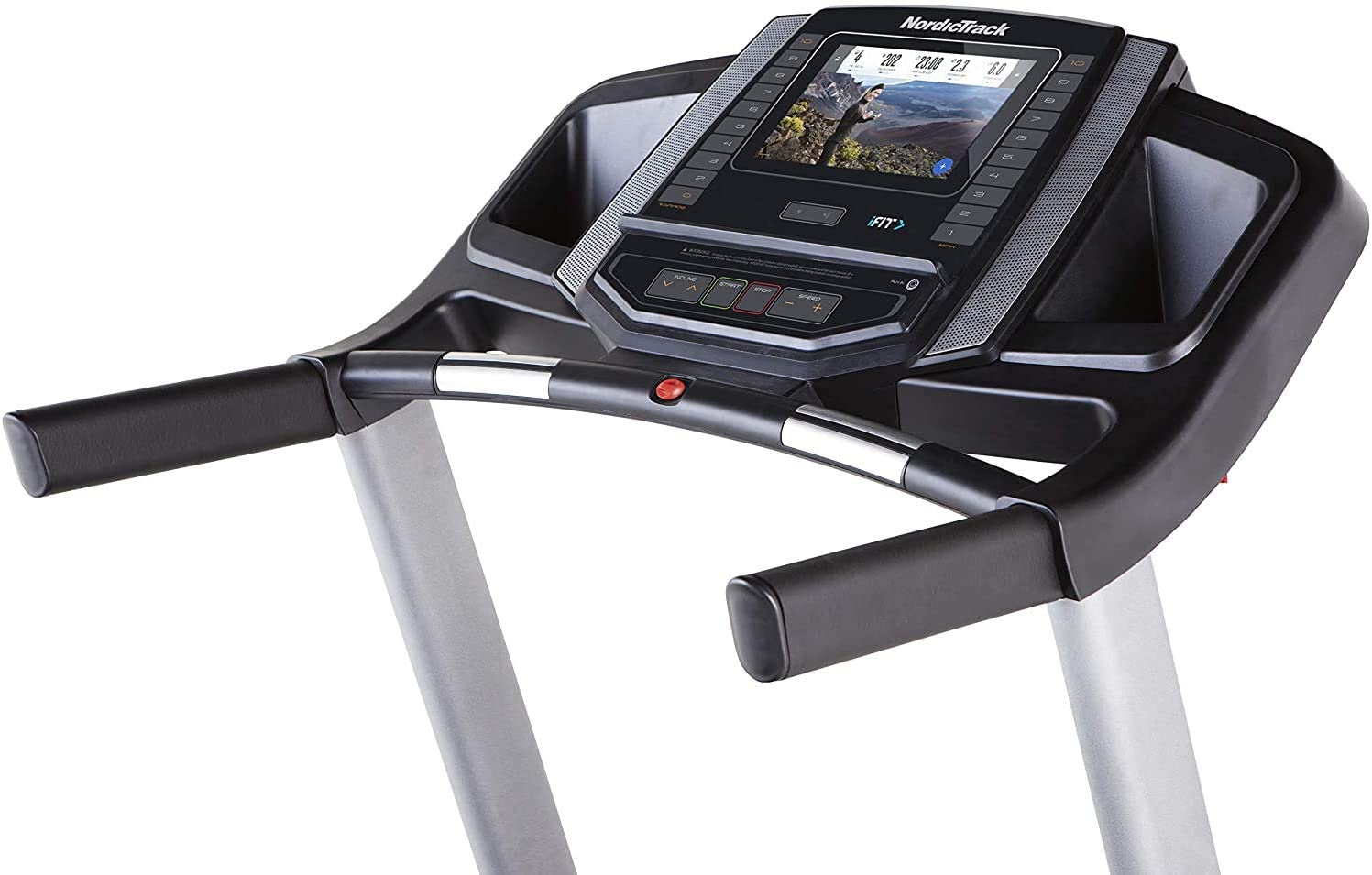 Foldable and compact stowable Treadmill Video Events /& Multiplayer APP via LCD Monitor German Quality Brand Smartphone compatible 4PS 16km//h