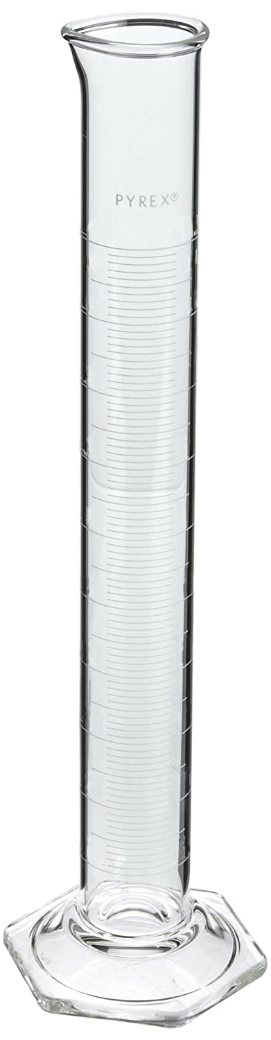 Corning Pyrex 3025-500 Glass 500mL'To Contain' Economy Graduated Double-Metric Calibrated Cylinder Thomas Scientific C6700-500