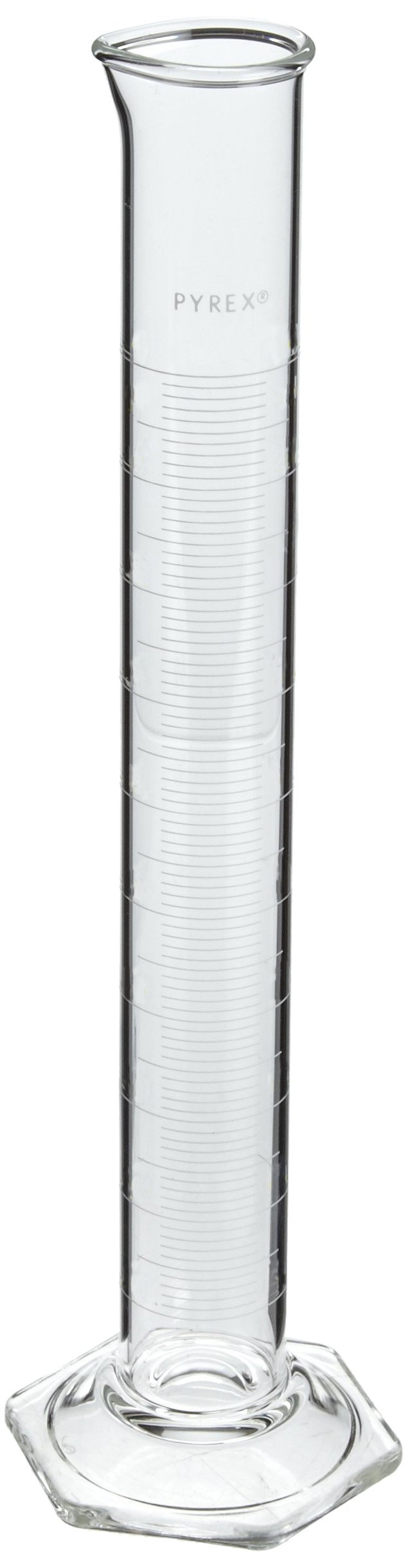 Corning Pyrex 3025-10 Glass 10mL ''To Contain'' Economy Graduated Double-Metric Calibrated Cylinder