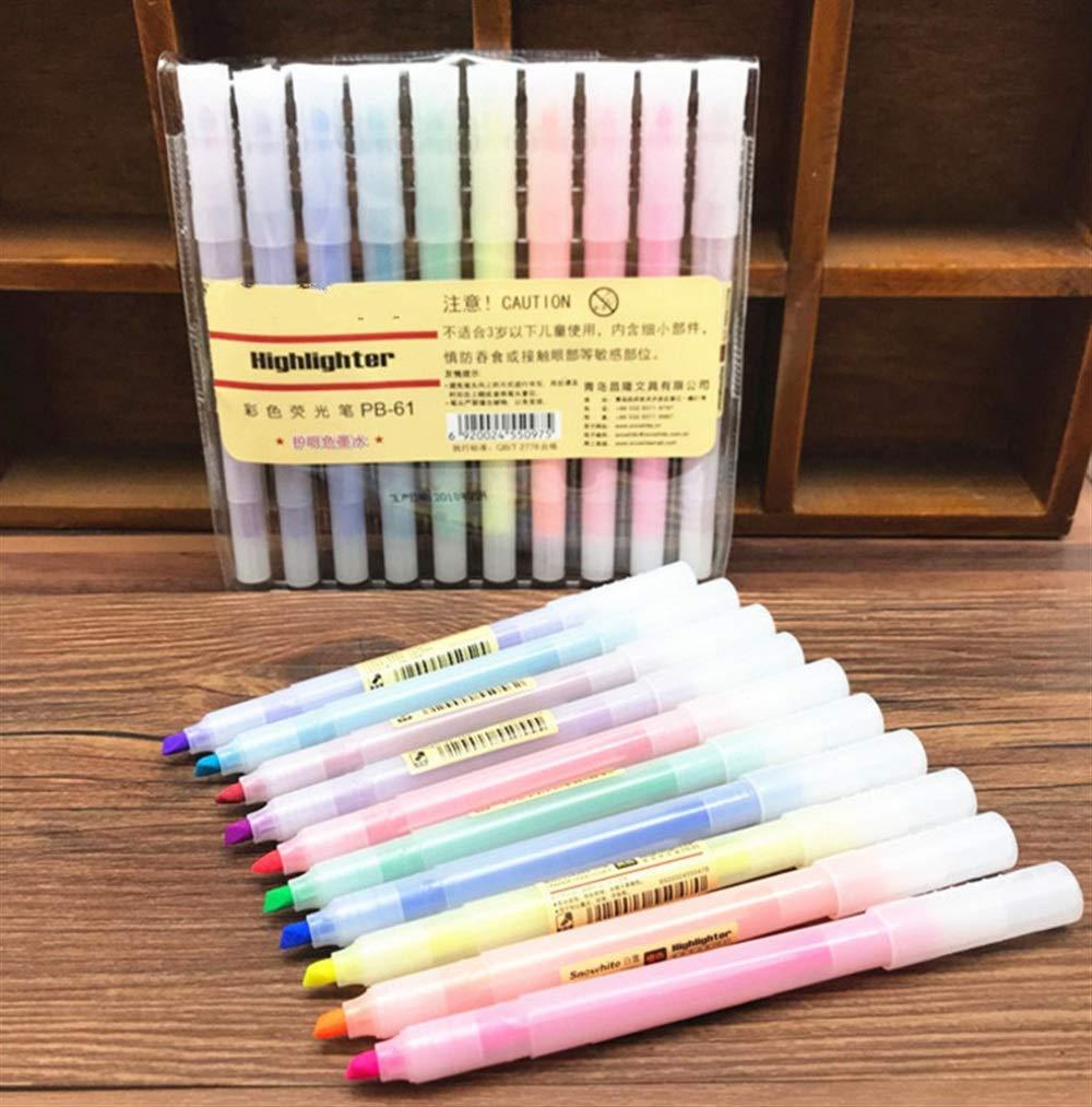 Sun Glower Büro Schulbedarf 10 Farben Student Textmarker Farbe Filzstift Briefpapier Geschenkset
