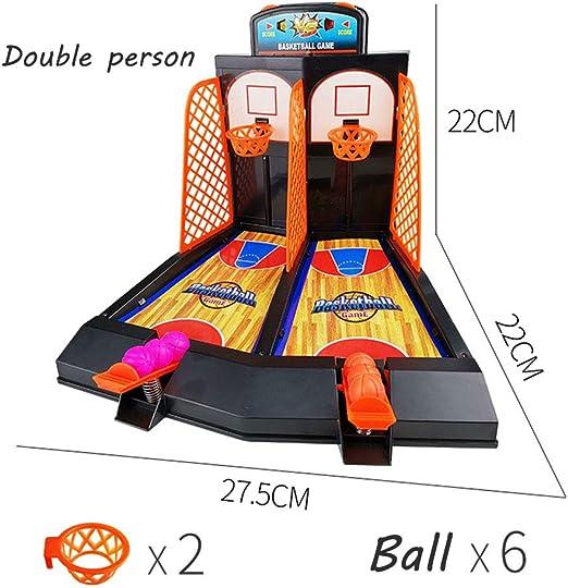 XUENI Tabla Juego de Baloncesto de la categoría Mesa de la máquina de Tiro Dedo Producto Marco de eyección caseros eficaces Juguetes educativos 6 años de Edad (Black SR1): Amazon.es: Hogar