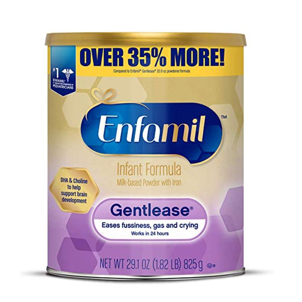 Enfamil Gentlease Infant Formula - Clinically Proven to Reduce Fussiness, Gas, Crying in 24 Hours - Value Powder Can, 29.1 oz (2 Pack)