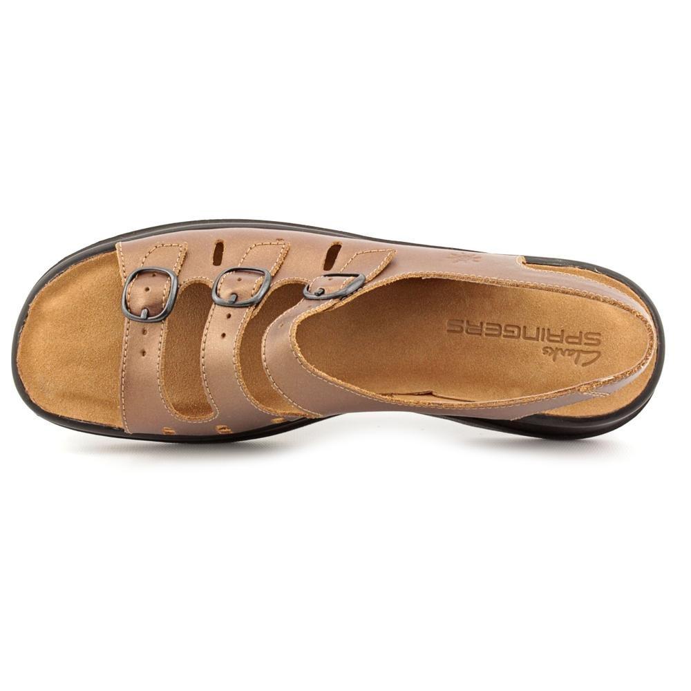 Clarks Sunbeat Womens Bronze Slingbacks Wide Dress Sandals