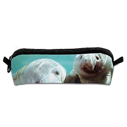3edb2ac158e3 Amazon.com: Pair of Manatee Doug Perrine Ocean Animal Pencil Case ...