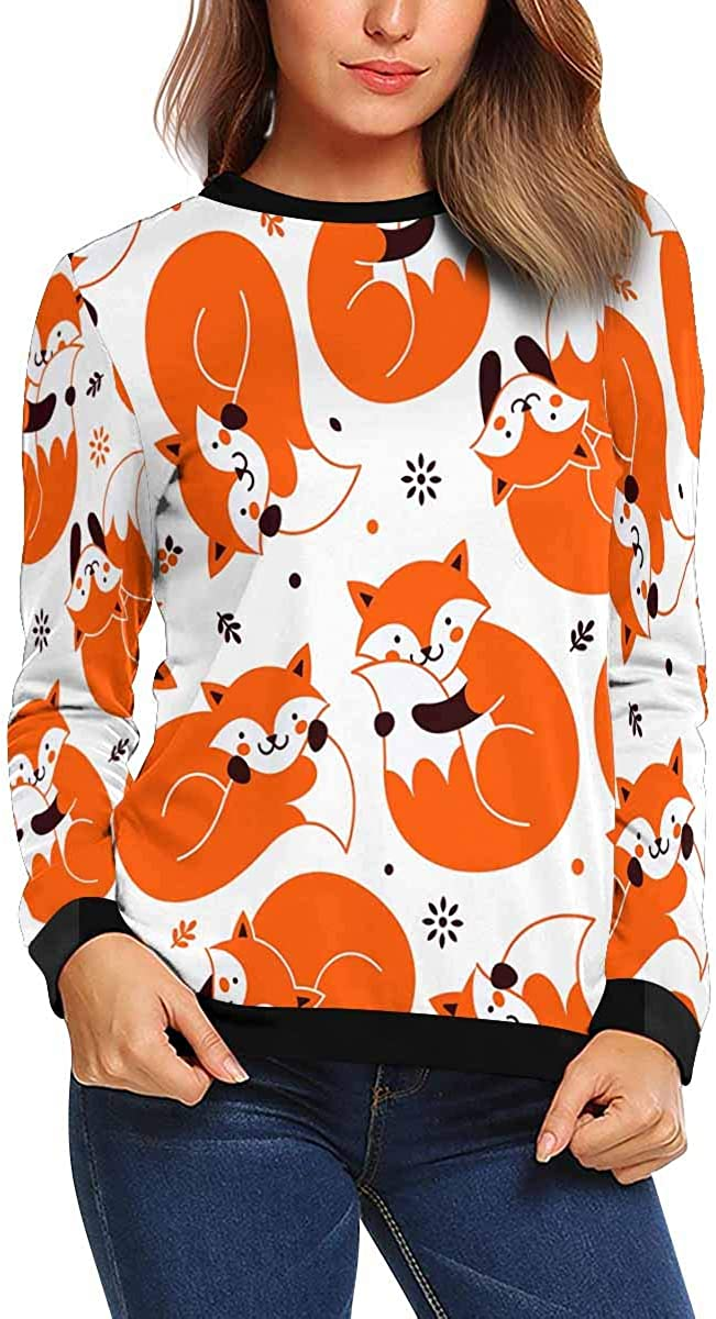 INTERESTPRINT Womens Long Sleeve Sweatshirt Crabs Sea Ocean Crew Neck Pullover Tops