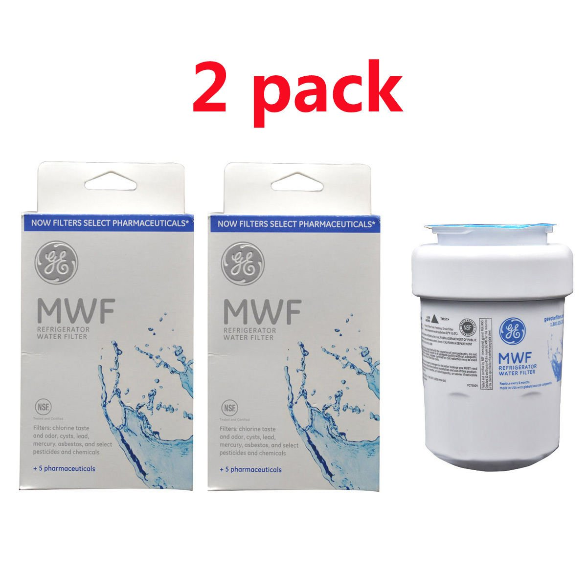 Refrigerator Water Filter Mwf Ge Mwf Refrigerator Water Filter 1 Pack Amazonca Tools Home