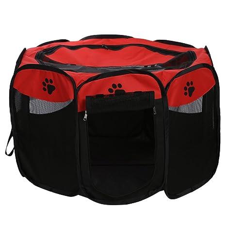 macrorun Plegable Mascota Tienda Juego Valla de Perro Perrera Perrera Plegable Juego de Deportes