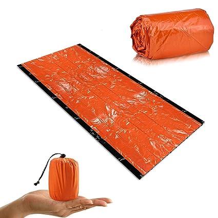Modestile abholen USA billig verkaufen Notfallzelt, Dicker Typ Notschlafsack Biwaksack Wasserdicht Ultraleicht  Survival Schlafsack, Wärmeisolierung, Reißfest, Hohe Sichtbarkeit, ...