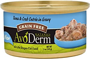 AvoDerm Natural Tuna Wet Canned Cat Food, 3 Ounce Cans, Case of 24
