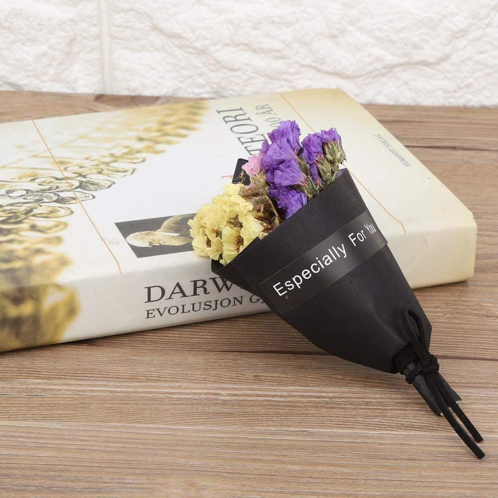 Caredy Flores secas Naturales arreglos de Flores Flores secas Decorativas Flores de Mini Ramo Decoraci/ón para Bodas Accesorios de Fotos P/úrpura